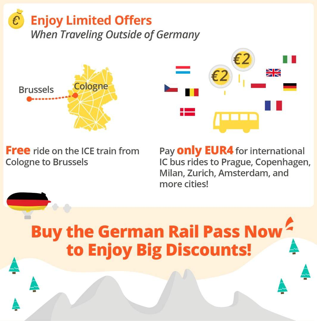 travel offers outside of germany german rail pass (flexible)